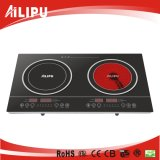 Touching Screen Countertop Double Cooktop/Induction Infrared Cooker/Induction Cookerの低いPrice対Infrared Cooker
