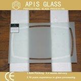 Vidrio endurecido impreso pantalla de seda semitransparente/translúcido para los estantes de la pared