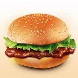 Empanada de la hamburguesa que hace las pepitas de pollo de la máquina anteriores