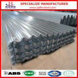 Le toit en acier ondulé de zinc de SGCC couvre le prix par feuille