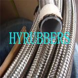 Tuyau de teflon tressé d'acier inoxydable de tuyau de métal flexible