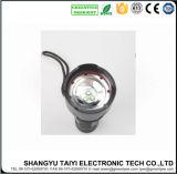 lampe-torche d'aluminium lumière blanche/jaune 80-150lm de 3W