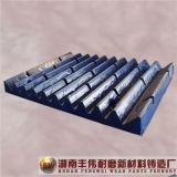 Desgaste elevado do manganês da fundição - placa resistente da maxila das peças
