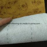 Plancher blanc de PVC de feutre de support