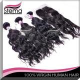 6A Human Hair 100%年のVirgin Hair Hair ExtensionブラジルのFull Lace Closure Hair