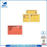 Etiquetas engomadas médicas autas-adhesivo de las escrituras de la etiqueta de Caterproof