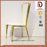 金ステンレス鋼の椅子と結婚する贅沢で高貴な王位