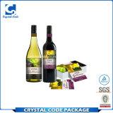 Contrassegno su ordinazione dell'autoadesivo della bottiglia di vino di stampa
