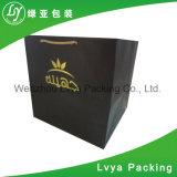 Bolsa de papel de encargo del regalo de boda de la venta caliente/bolsa de papel de las compras con las manetas