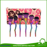 Rose Flower Shape Makeup Brush Rose Gold avec Long Handle Utilisation comme décoration Beauty Gift