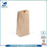 Crear la bolsa de papel para requisitos particulares impresa insignia de Brown Kraft