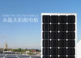 panneau solaire de module solaire monocristallin approuvé de la CE de 100W TUV