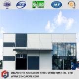 Edificio de oficinas de la estructura de acero con diseño moderno