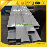 Uitgedreven de fabriek anodiseerde het Tubulaire Vierkante Ronde Aluminium van de Legering