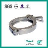 Abrazadera sanitaria de la virola 2-PCS del acero inoxidable de las instalaciones de tuberías
