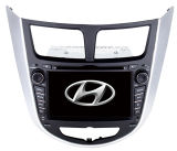Coche GPS con el iPod DVB-T de Bluetoothdvd para Hyundai Verna