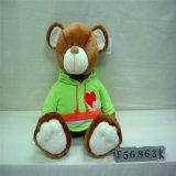 Urso graduado enchido assento do GS com tampão e vestido