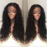 Perucas brasileiras do laço do cabelo humano do Virgin da onda de água