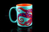 De mooie In reliëf gemaakte Mok van de Koffie van de Mok van de Octopus