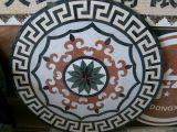 De bruine Hoge Artistieke Tegel van het Patroon van het Mozaïek voor Decoratie