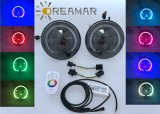 """Farol do RGB 7 """", controle com telecontrole & controle de Bluetooth"""