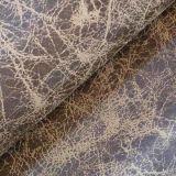 Бронзированная полиэфиром 100% ткань замши