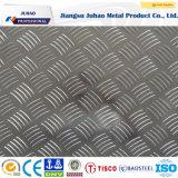 201 304 ont gravé la plaque Checkered d'acier inoxydable