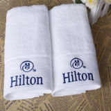 Tovaglioli 100% di Terry di alta qualità del cotone per Hilton Hotel (DPFT8040)