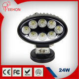 24W LED Ovale-Shaped Car Light per 4WD Vehicles
