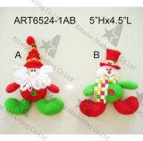 Decorazione Ornaments-2asst dell'albero di Natale del pupazzo di neve della Santa