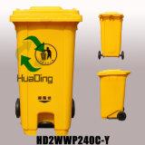 poubelle en caoutchouc de roue du coffre 240L extérieur en plastique pour extérieur