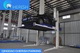 Levage hydraulique de stationnement de véhicule de deux postes (fléau partagé)