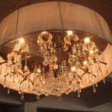 Lámpara pendiente cristalina decorativa del hotel europeo con la cortina de la tela
