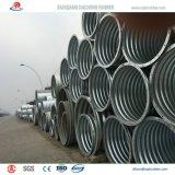 Tubo de acero acanalado galvanizado del palmo grande para la alcantarilla de la carretera a Qatar