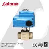 Válvula de esfera de alta pressão elétrica do aço inoxidável