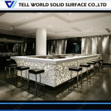 Staaf van het Restaurant van Corian van het moderne RGB LEIDENE van de Vorm van de Diamant Gebied van de Verlichting de Commerciële Hoogste