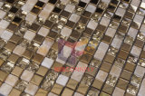 Mix Acero Inoxidable Mármol Mosaico Vidrio Metal Tile (CFM752)