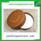 Boîte-cadeau de papier de empaquetage de cadre cosmétique de cadre de fleur de forme ronde d'OEM