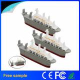 Navio modelo Pendrive da movimentação do flash do USB dos desenhos animados da movimentação da pena do barco