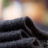 Wolle-/Polyester-Gewebe mit guter Elastizität für Herbst im Schwarzen