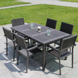 Chaise en bois en aluminium en bois Meubles de patio extérieurs (J803)