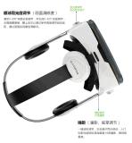 rectángulo de Vr de la realidad virtual de los vidrios 3D con el receptor de cabeza