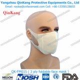 3 non tessuti a gettare hanno pieghettato la maschera di protezione chirurgica di Earloop