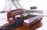 황금 가구 호화스러운 고전적인 간단한 나무로 되는 2인용 침대 G896