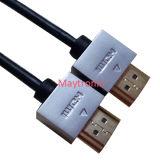 Cabo magro V2.0 da alta qualidade HDMI do fio de Ultral