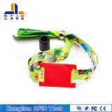 Высокочастотный Wristband шелковой ширмы RFID Braided для Warehousing