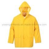 Juego al aire libre impermeable de la lluvia de la ropa impermeable del impermeable del Workwear de la ropa del PVC (RWB01)