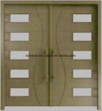 Дверь нутряного положения французская с стеклом двойной панели Tempered