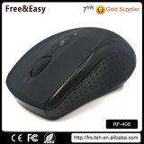 Tamaño medio del ordenador 6 Botones Negro de revestimiento de goma de 2,4 GHz Wireless Mouse