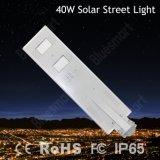 Датчик движения 40W уличного фонаря PIR уличного света неразъемный солнечный СИД урбанской дороги солнечный
